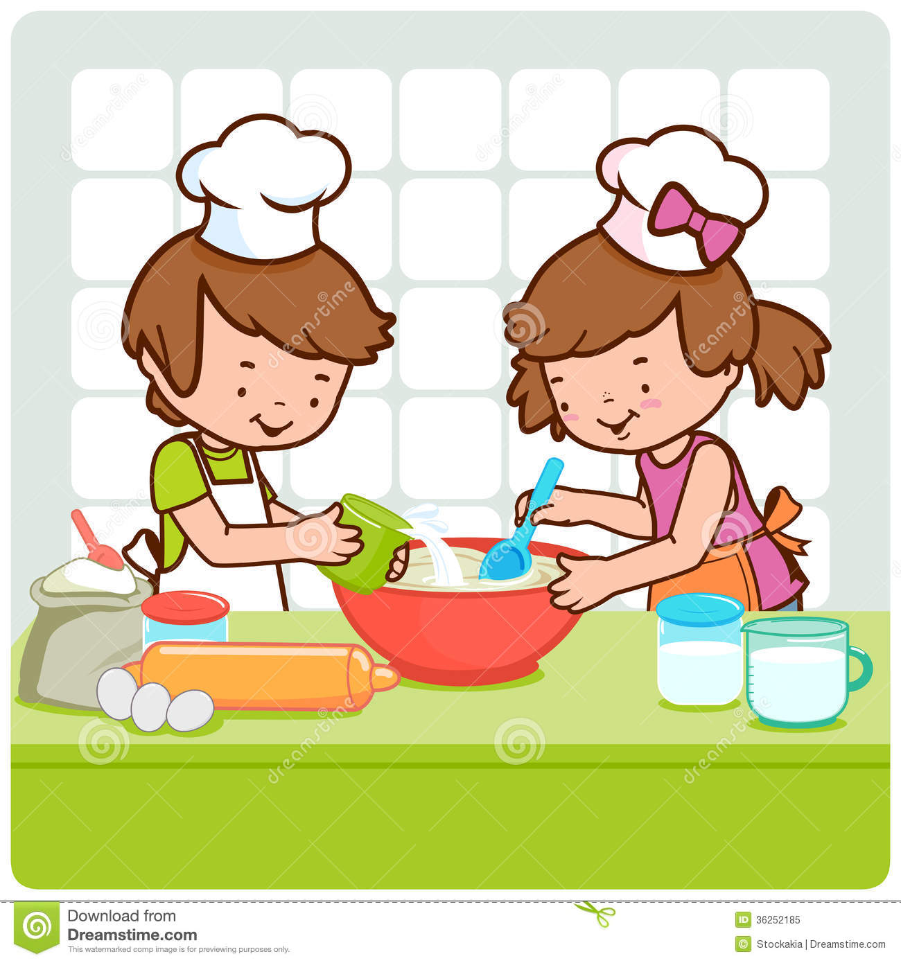 1300x1390 Kids Cooking Clipart Clipartlook