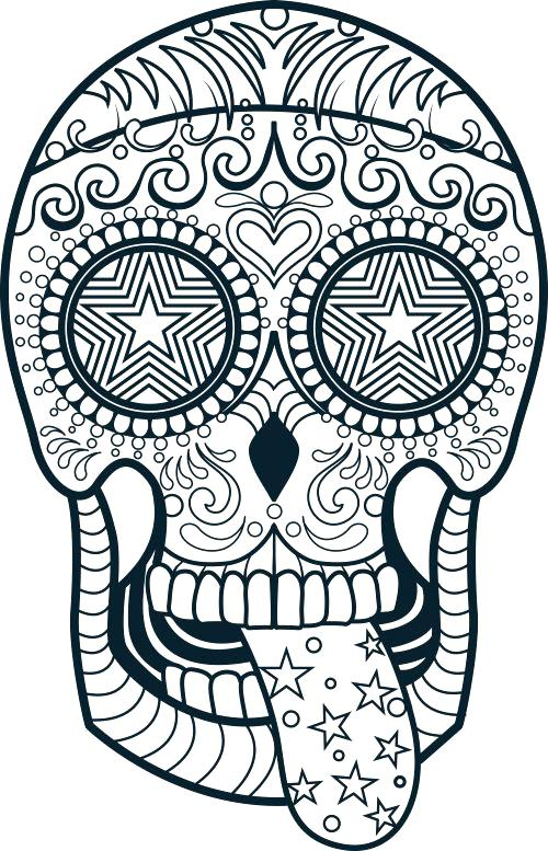500x777 Skull Coloring Pages To Print Free Sugar Skull Coloring Pages Day