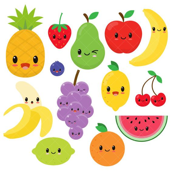 570x570 Kawaii Fruit Cute Fruit Clipart Happy Fruit Clip Art Kawaii
