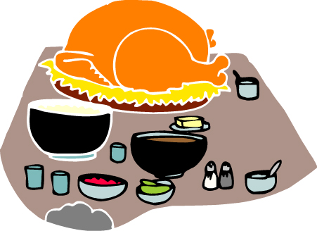 451x328 Free Table Food Clipart