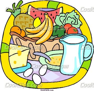 375x361 Breakfast clipart health food