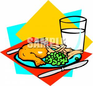 300x279 Clipart Picture A Glass Of Milk With A Dinner Plate