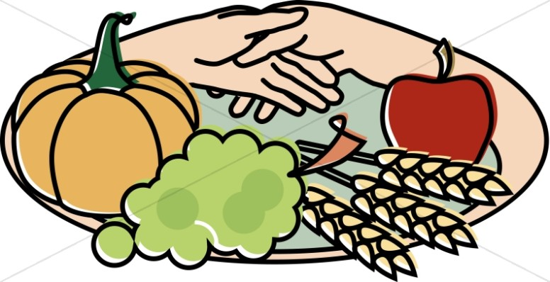 776x398 Harvest Plate With Hands Clipart Thanksgiving Clipart
