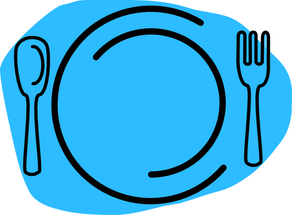 600x442 Blue Plate Cartoon Clip Art