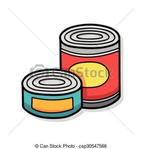 287x300 Canned Food Clipart Canned Food Doodle Clip Art Vector Search