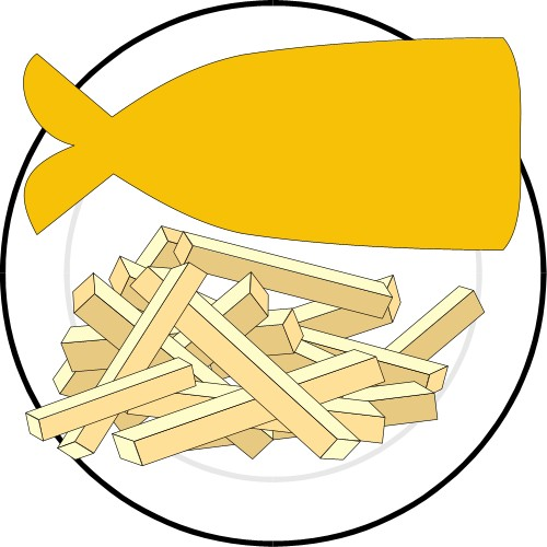 500x500 Chips Clipart Food Item