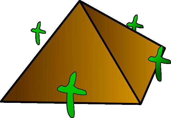 600x413 Pyramid Clip Art Free Vector 4vector