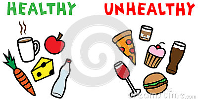 400x205 Collection Of Healthy And Unhealthy Food Clipart High