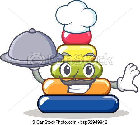 450x401 Chef With Food Pyramid Ring Character Cartoon Vector Eps Vector