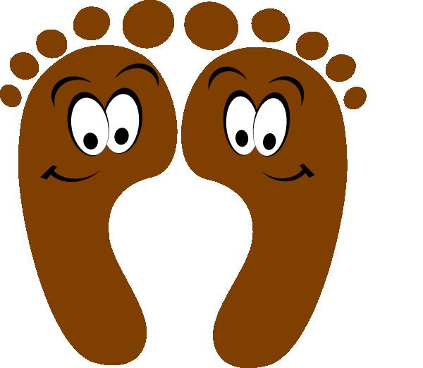 600x522 Cartoon Feet Brown Happy Feet Clip Art