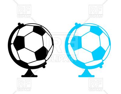 400x311 Football Ball As Globe Royalty Free Vector Clip Art Image