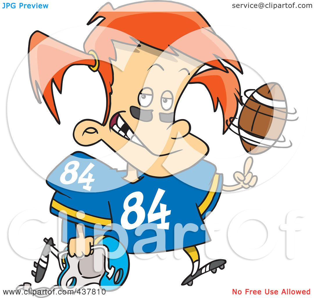 1080x1024 Royalty Free (Rf) Clip Art Illustration Of A Little Football Girl