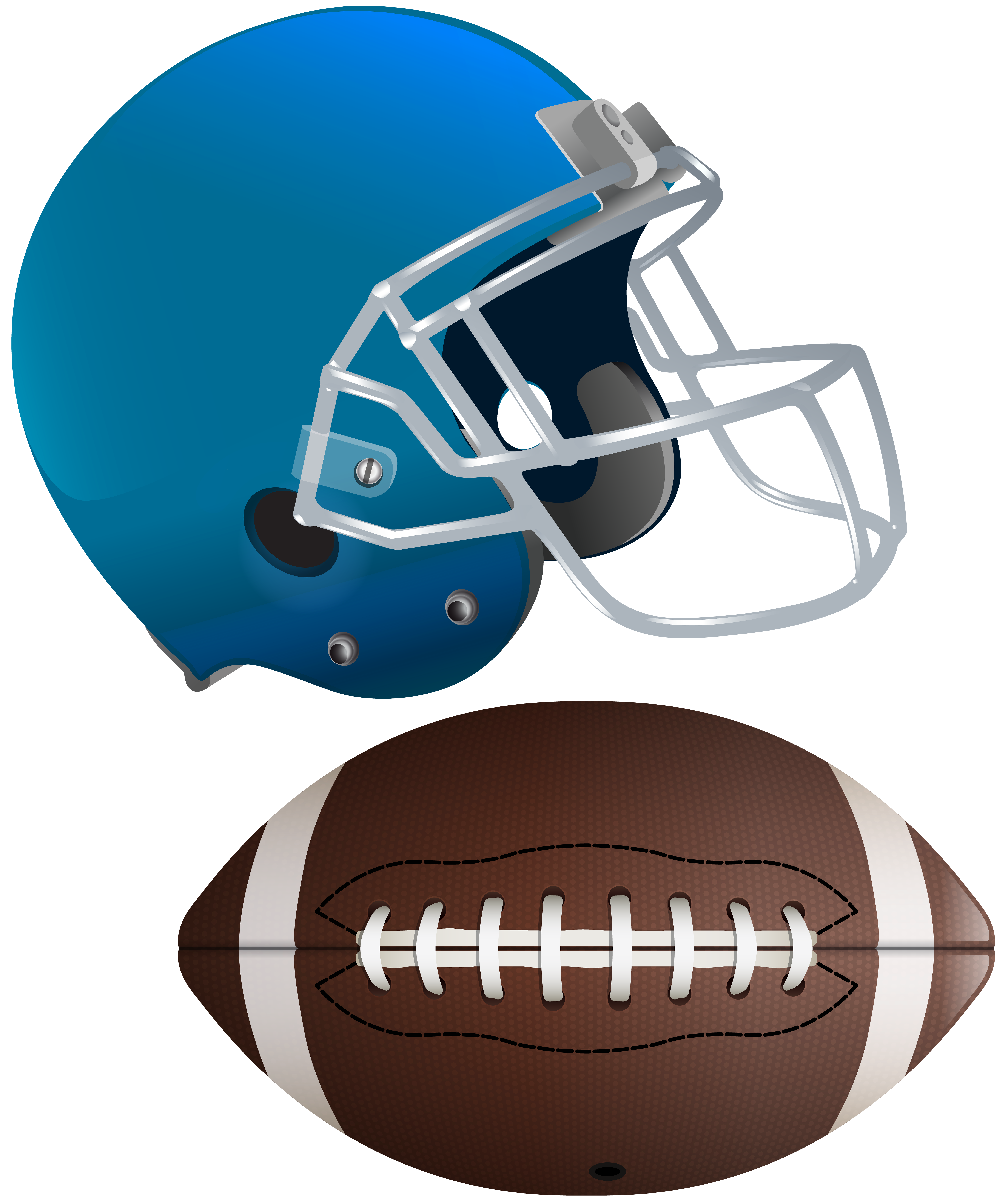 6702x8000 American Football Ball And Helmet Transparent Clip Art Image