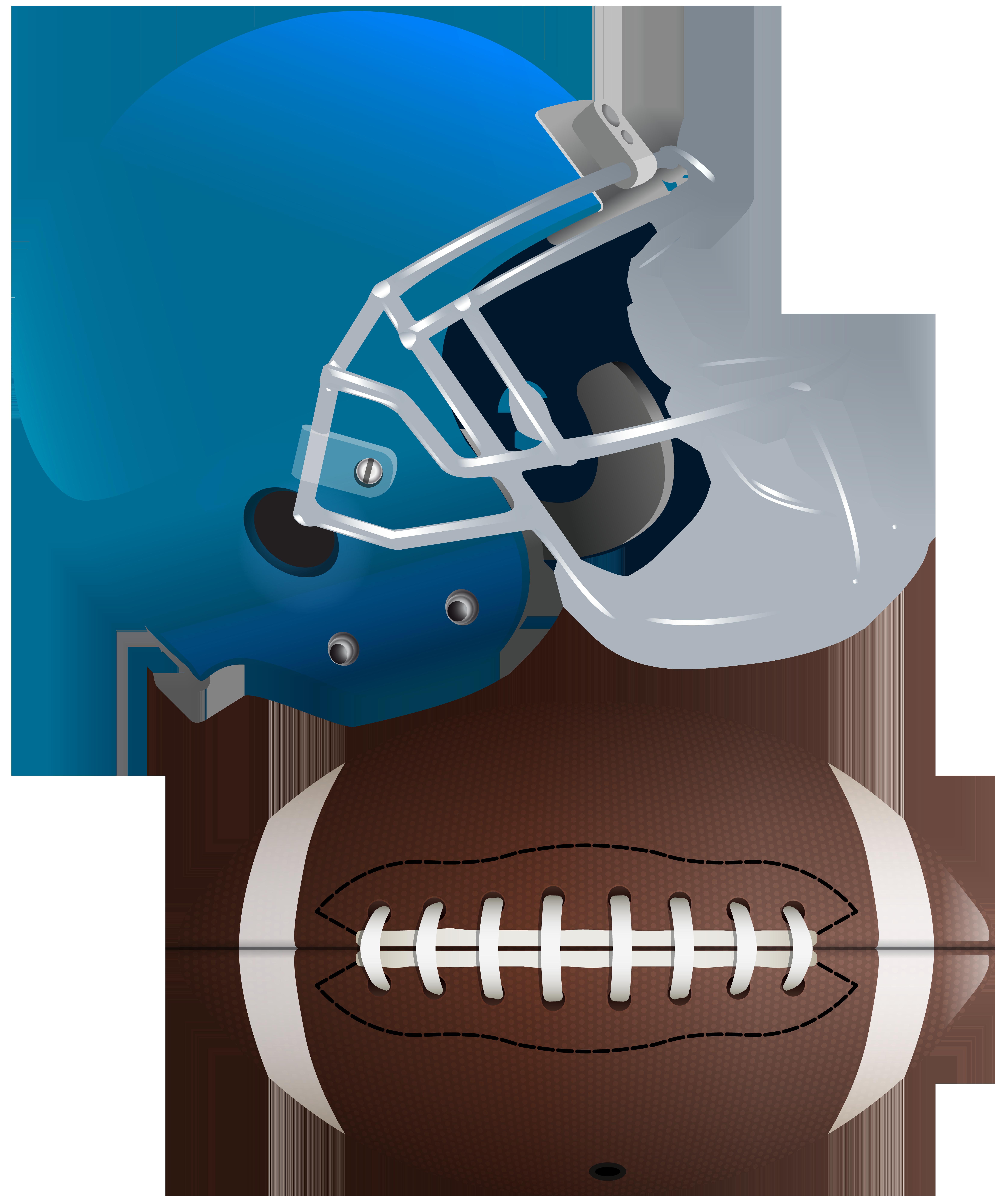 6702x8000 American Football Ball And Helmet Transparent Clip Art Image