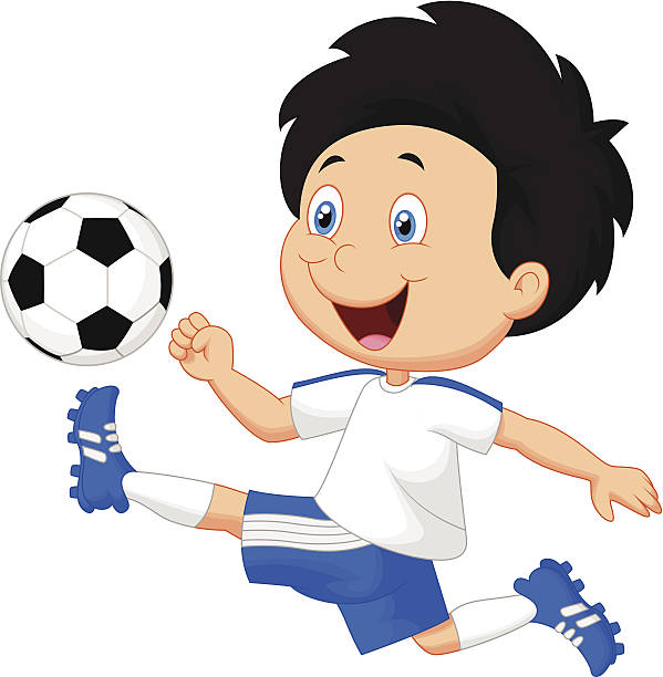 599x612 Boy And Football Clipart Collection