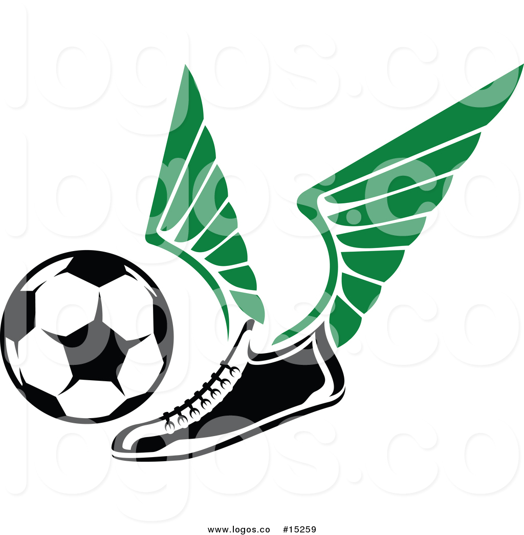1024x1044 Royalty Free Vector Logo Of A Cleat Shoe With Wings Flying Towards