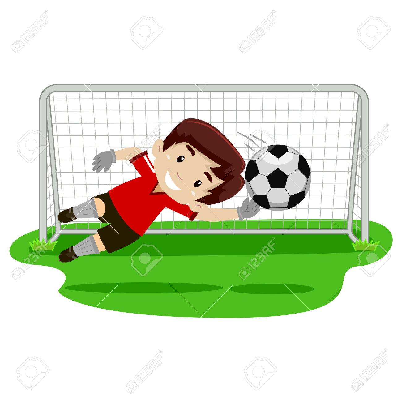 1300x1300 Football Clipart Keeper