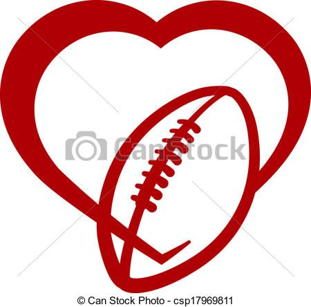 450x444 Vector Clip Art Of American Football Heart