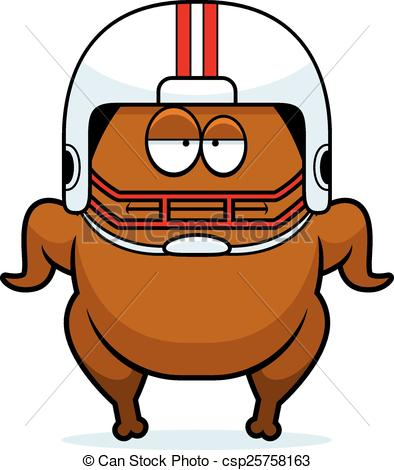 394x470 Bored Cartoon Football Turkey. A Cartoon Illustration Of A Clip