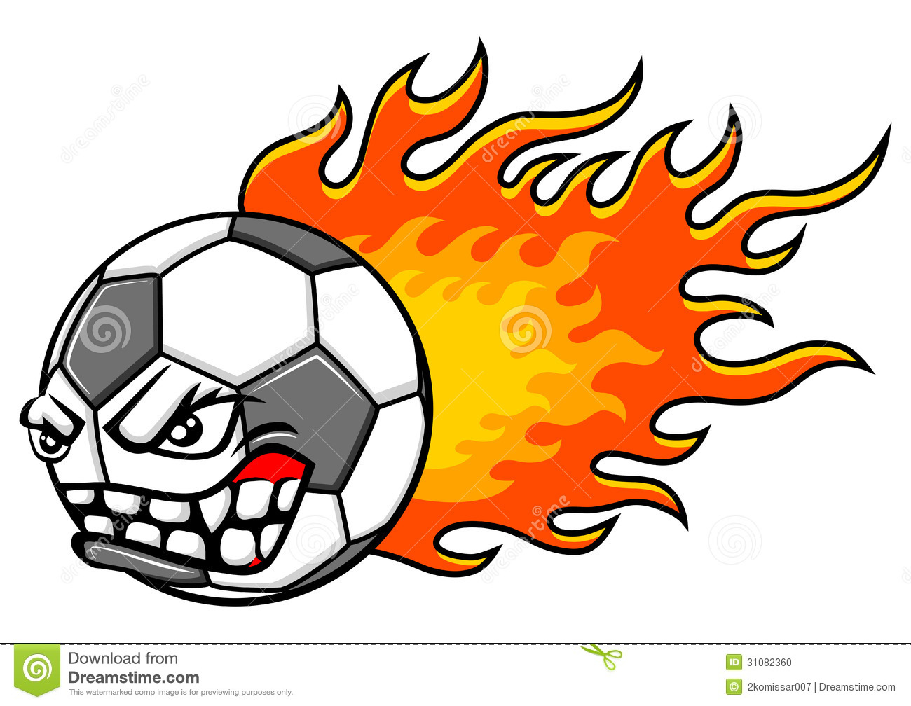 1300x1008 Clip Art Flaming Football Clip Art