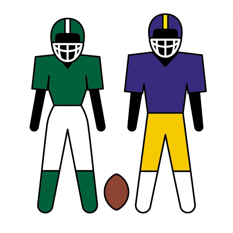 1440x1440 Halloween Football Cliparts