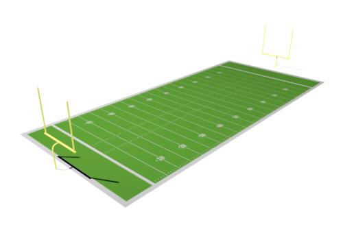 500x350 Field Goal Football Clip Art