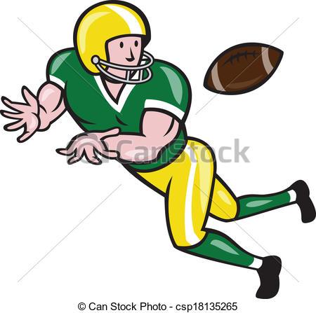450x447 American Football Wide Receiver Catch Ball Cartoon . Clip Art