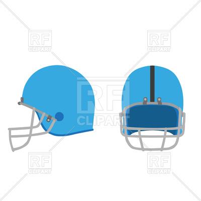 400x400 Football Helmet Equipment Isolated Blue Set Royalty Free Vector