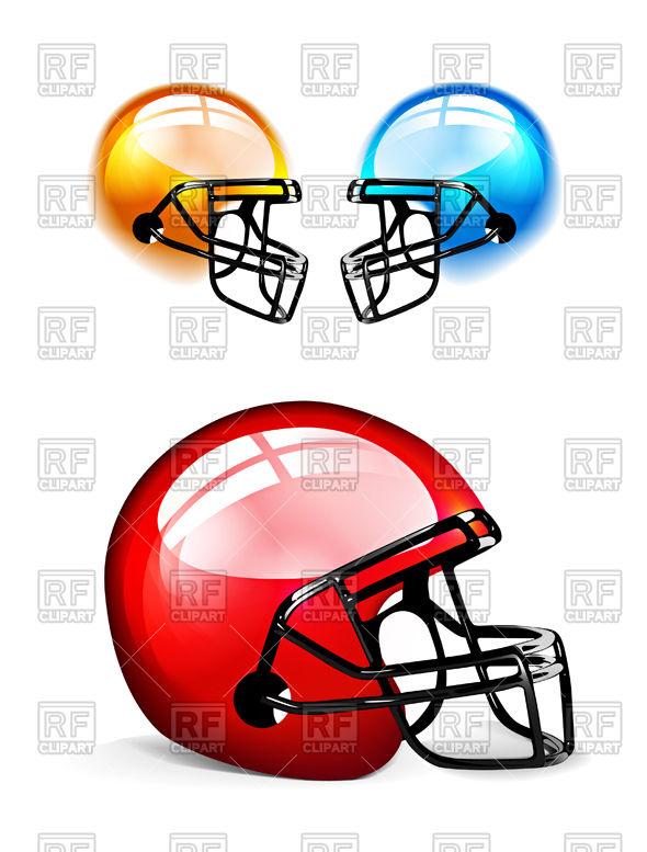 590x777 Football Helmets Royalty Free Vector Clip Art Image