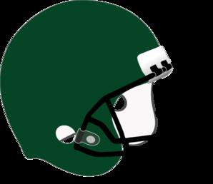 298x258 Green Football Helmet White Padding Clip Art