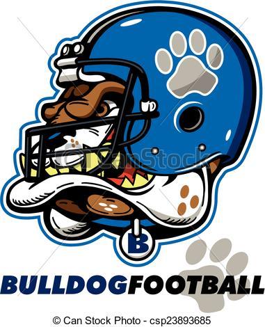 381x470 Bulldog Football Mascot With Helmet Vector