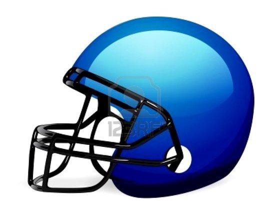 550x425 College Football Helmet Clipart