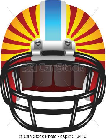 359x470 Footbal Helmet With Stripes. Red American Football Helmet