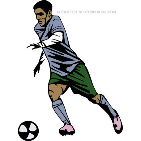 456x456 Free Soccer Player Vector Graphics.eps Clipart And Vector Graphics