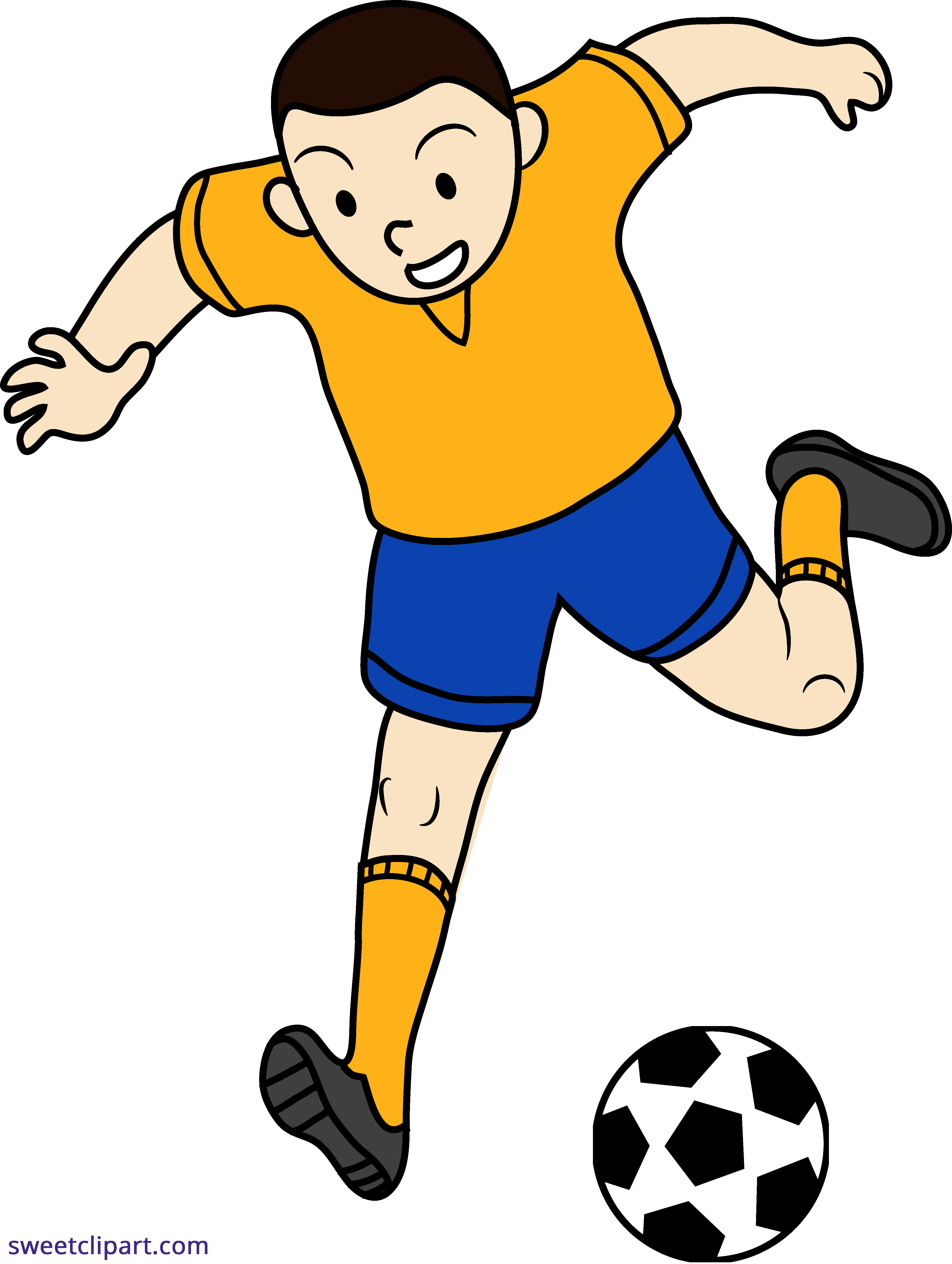 3945x5238 Soccer Football Futbol Kid Clipart