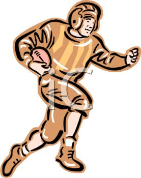 277x350 Vintage Football Player Clipart