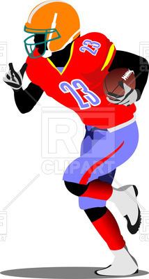 214x400 American Football Player Royalty Free Vector Clip Art Image