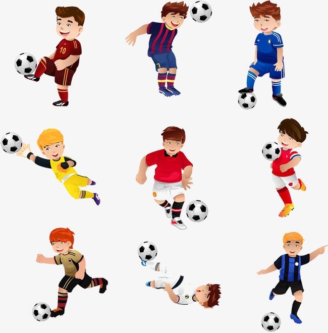 650x660 Cartoon Boy Playing Soccer, Football, Footballer, Cartoon Boy Png