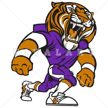 361x361 Football Tiger Mascot Clipart Amp Football Tiger Mascot Clip Art