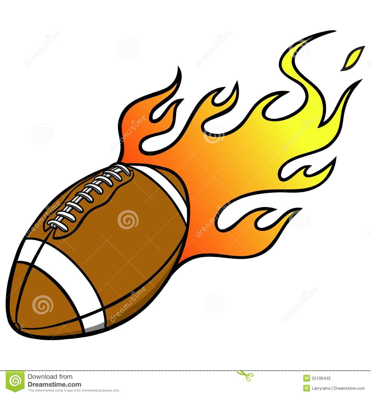 1300x1390 Clip Art Flaming Football Clip Art