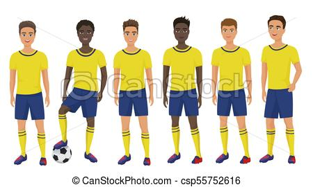 450x270 Vector Flat School Football Soccer Young Guys Team In Vector