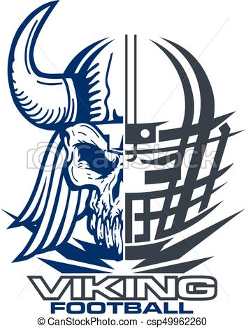 352x470 Viking Football Team Design With Mascot And Facemask For Clip
