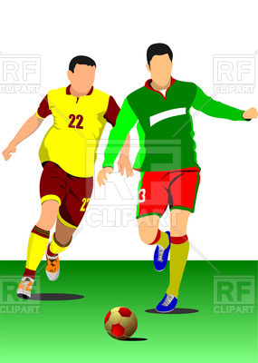 285x400 Football (Soccer) Player With A Ball Royalty Free Vector Clip Art
