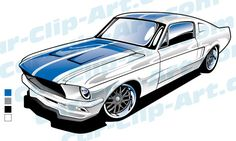 236x141 1967 Ford Mustang Fastback Pencil Drawing Automotive Art