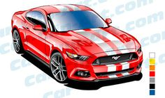 236x141 1965 Ford Mustang Vector Clip Art Mustang, Ford Mustang And Clip Art