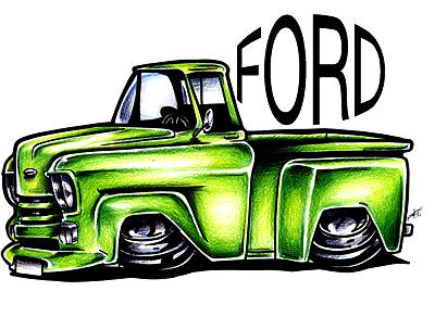 400x292 Muscle Car 6 Ford Coupe Hot Rod Art Clip Image Clipart