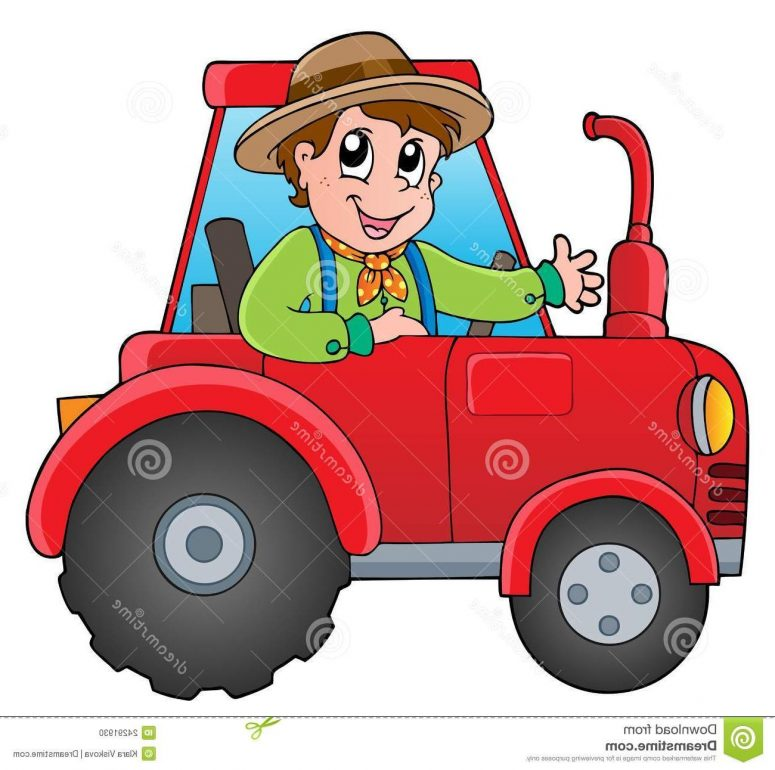 775x770 Best Free Farmer On Tractor Clip Art Pictures Vector Images