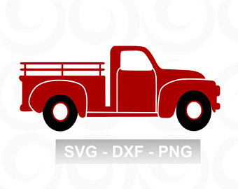 340x270 Red Truck Clipart Etsy