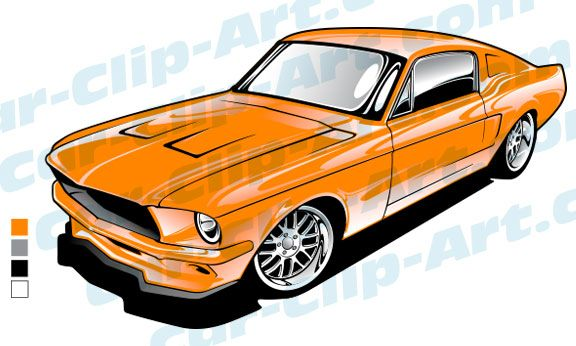 576x346 1967 Ford Mustang Vector Art Ford Mustang, Vector Art And Mustang