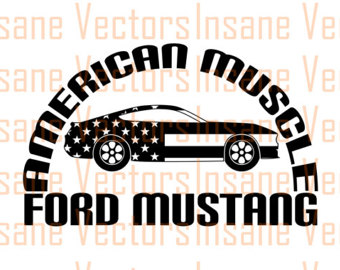 340x270 Ford Mustang Vector Silhouette Clip Art Image Mustang Vector